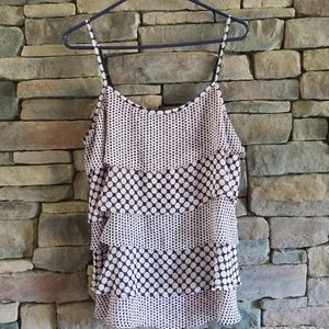 NY&C Ruffled Tank Excellent Condition